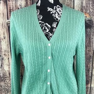 Brooks Brothers silk cashmere cable cardigan